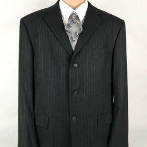Oscar De La Renta Suit Jacket 3 Button Wool 46L